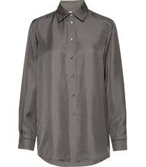 jennie shirt overhemd met lange mouwen grijs filippa k