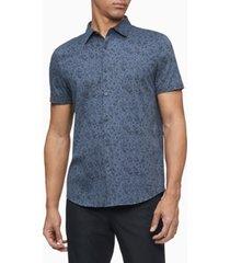 men's liquid touch leopard print short sleeves shirt