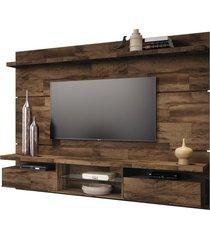 painel home suspenso 2.2 para tv atã© 60 sala de estar lennon deck - gran belo - marrom - dafiti