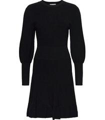 peplum dress jurk knielengte zwart maud