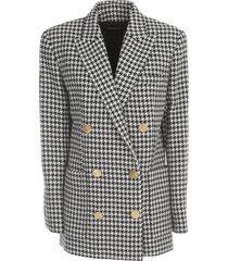 houndstooth boyfriend jacket