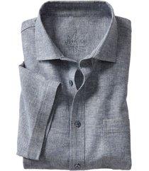 hennep-overhemd, blauw-gemêleerd xl