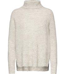 11 the knit rollneck turtleneck polotröja grå denim hunter