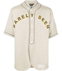 mostly heard rarely seen mostly vintage varsity shirt - neutrals