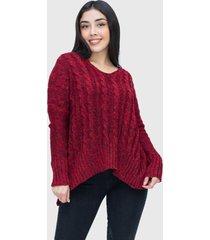 sweater holgado lana burdeo enigmática boutique