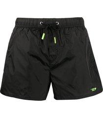 diesel drawstring swim shorts - black