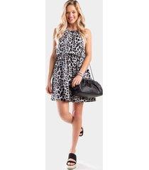 darci leopard flawless dress - gray