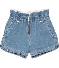 alyssa denim shorts in blue