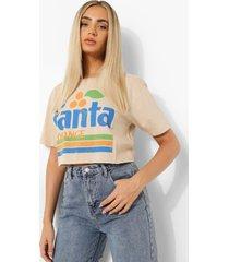 gelicenseerd kort fanta t-shirt, stone