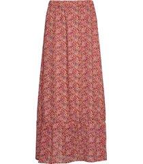 aurorasz maxi skirt lång kjol rosa saint tropez