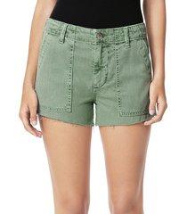 joe's jeans women's workwear shorts - seagrass - size 27 (4)