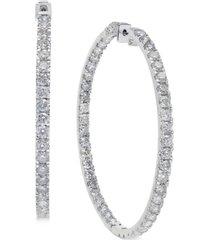 diamond large inside & out hoop earrings (10 ct. t.w.) in 14k white gold