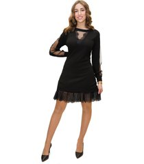 wool blend dress with petticoat