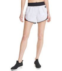 dkny sport colorblocked high-waist shorts