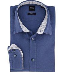 hugo boss overhemd blauw ronni linnen
