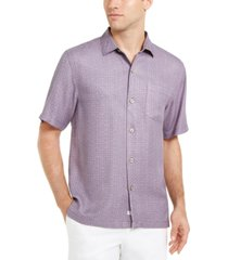 tommy bahama men's classic-fit traveling geo silk shirt