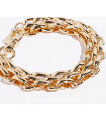 womens linkin' about you chunky chain bracelet - gold