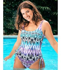 lima underwire adjustable leg shaping one-piece swimsuit