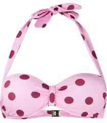 dolce & gabbana polka-dot halter neck bikini top - pink