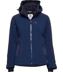 brilliant jkt w outerwear sport jackets blauw salomon