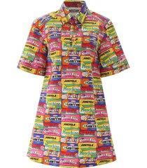 moschino chewingum print dress