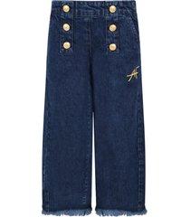 alberta ferretti blue jeans for girl with logo