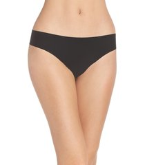 women's commando 'butter' stretch modal thong, size small - black