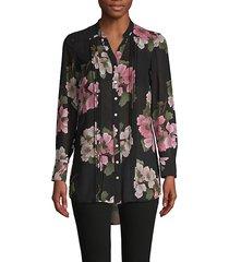 floral-print long-sleeve shirt