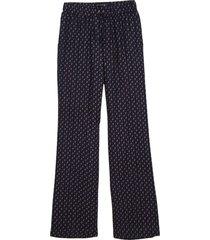 calça dudalina cintura média elástico estampa cashmere feminina (azul marinho estampa mini cashmere, 48)
