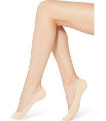 calzedonia no-show laser cut cotton socks woman ivory size 40-41
