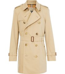 burberry short chelsea fit trench coat - neutrals