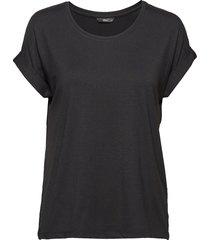 onlmoster s/s o-neck top noos jrs t-shirts & tops short-sleeved svart only