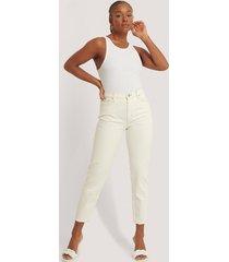 mango mom-jeans med hög midja - white