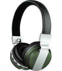 audífonos gamer, bt-008 libres audifonos bluetooth manos libres auriculares plegables con cuero stent + hd mic fuerte inalámbrico estéreo inalámbrico + cable doble modo 4 colores (verde)