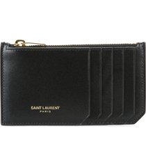 saint laurent classic fragments zip pouch - black
