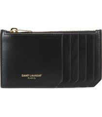 saint laurent classic fragments zip pouch - black