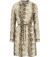 klänning viamella l/s dress, ormmönstrad