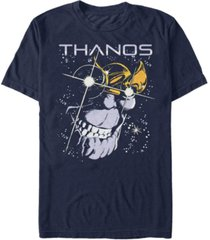 marvel men's comic collection thanos grin in stars short sleeve t-shirt