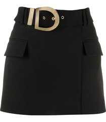 balmain belted short skirt - black