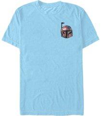 fifth sun star wars men's boba floral pocket helmet short sleeve t-shirt