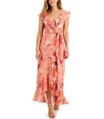 jessica howard ruffled maxi dress