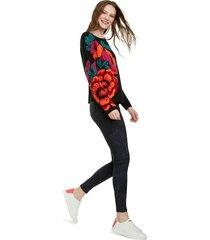 sweater desigual negro - calce holgado