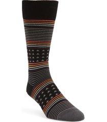 men's paul smith jack stripe socks, size one size - black