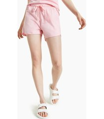 style & co plus size cotton cutaway drawstring shorts, created for macy's