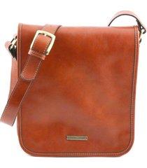 tuscany leather tl141255 tl messenger - borsa a tracolla 2 scomparti miele