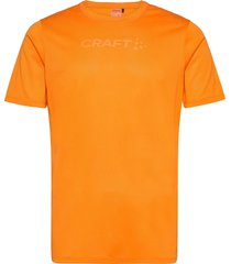 core essence ss mesh tee m t-shirts short-sleeved orange craft