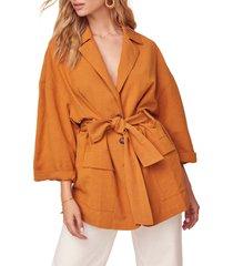 women's astr the label gemini tie waist jacket