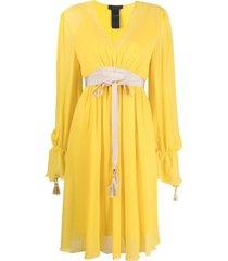 max mara tie-waist silk dress