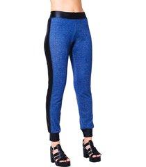 calça adamas jogging moletinho azul jeans