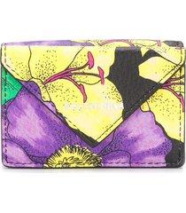 balenciaga paper floral-print wallet - yellow